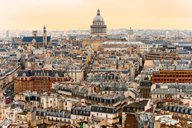 Фотообои Париж вид на город верх (city-0001298)
