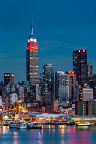 Фотообои Нью-Йорк мегаполис огни (city-0001333)