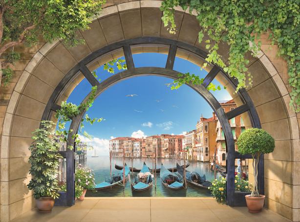 ФотообоиТерраса с видом на Венецию (city-1456)