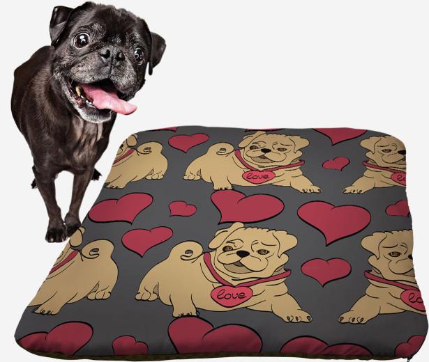 Подушка Love pug (dog-13)
