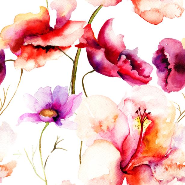 Фото обои для стен летние цветы (flowers-0000681)