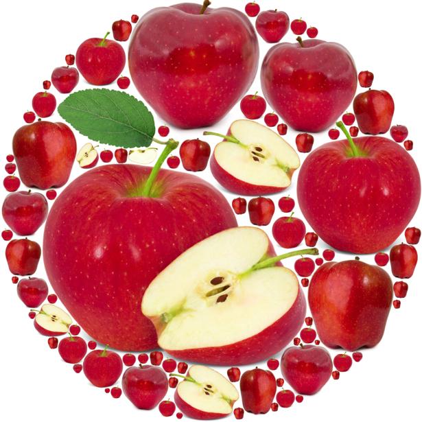 Фотообои для кухни красное яблоко (food-0000233)