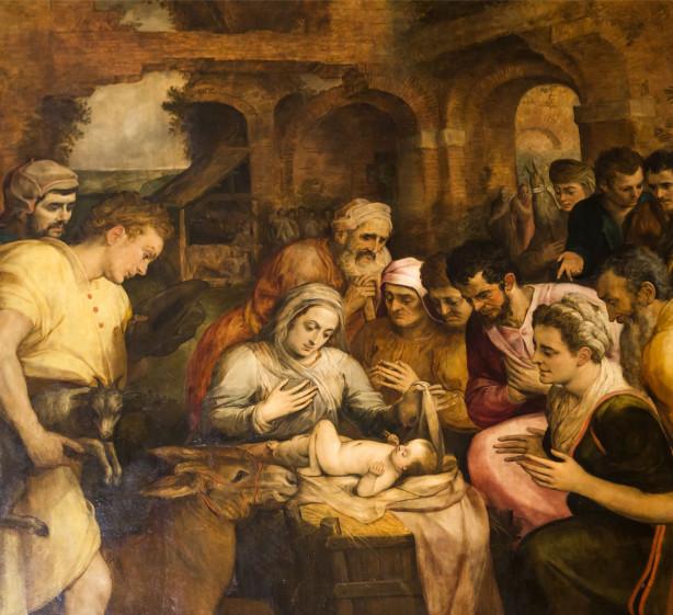 Фотообои Поклонение пастухов (fresco-006)