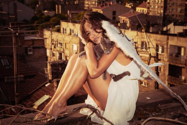 Фотообои ангел девушка (glamour-0000290)