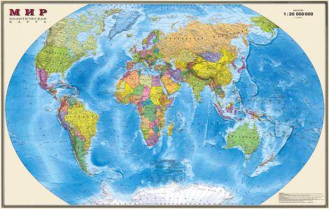 Фотообои - Политическая карта мира (map17)