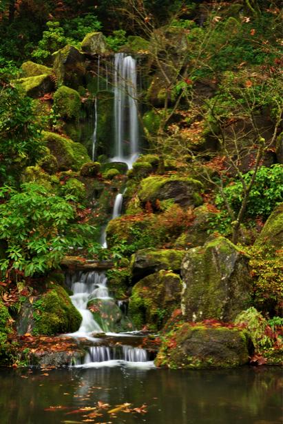 Фотообои горный водопад фото осень (nature-00418)