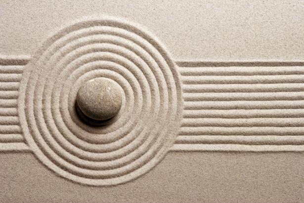 фотообои для спальни песок и камень (nature-00453)
