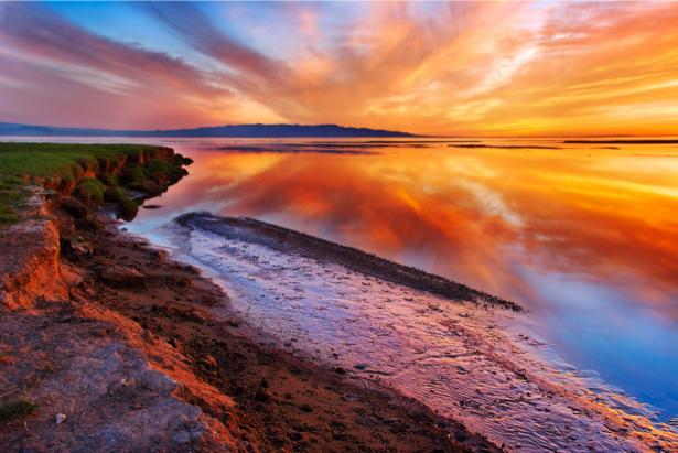 Фотообои море берег закат (nature-00590)