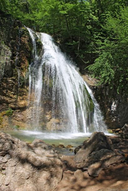 Фотообои водопад водоем камень (nature-00609)