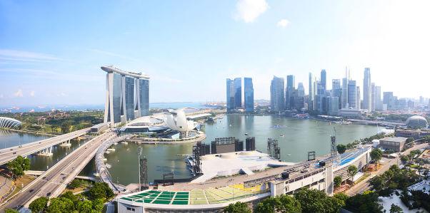 Фотообои Вид на Сингапур (panorama-76)