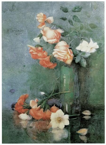 Кэтрин Камерон Натюрморт с розами (pf-27)