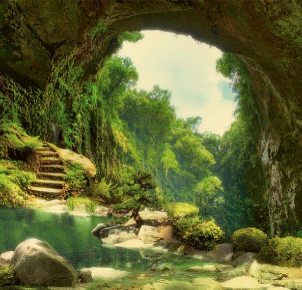 Фотообои Ущелье красивые (printmaking-0000053)