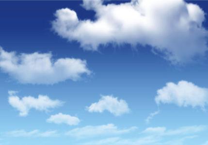 Фотообои голубое небо с облаками (sky-0000120)