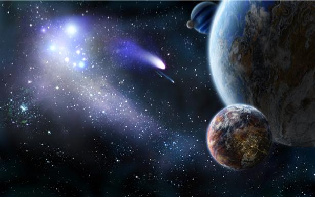 Фотообои звездопад (space-0000038)