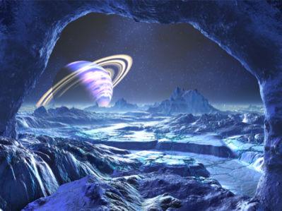 Фотообои зимнй космос (space-0000042)