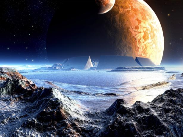Фотообои для гостиной планета (space-0000088)