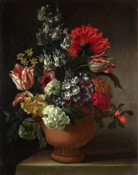 Фотообои Ваза с цветами натюрморт (still-life-0065)