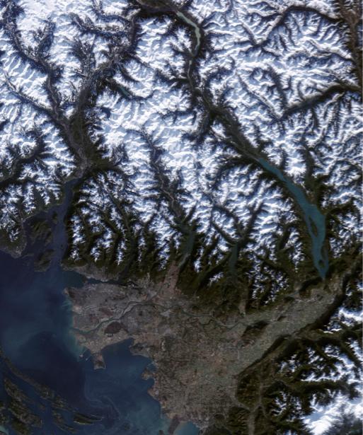 Фотообои фото узоры снежных гор (terra-00122)