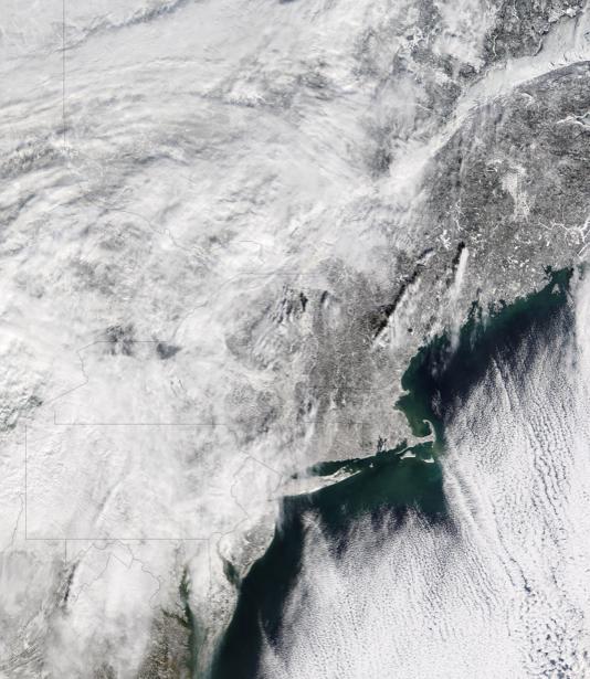 Фотообои NASA зима облака (terra-00254)