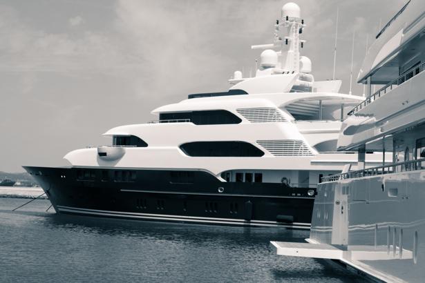 Фотообои яхта на стоянке (transport-0000199)