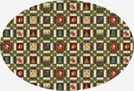 Скатерть овальная Новогодняя мозаика (202-2)