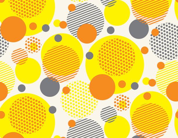 Фотообои с желтыми кружочками (background-395)