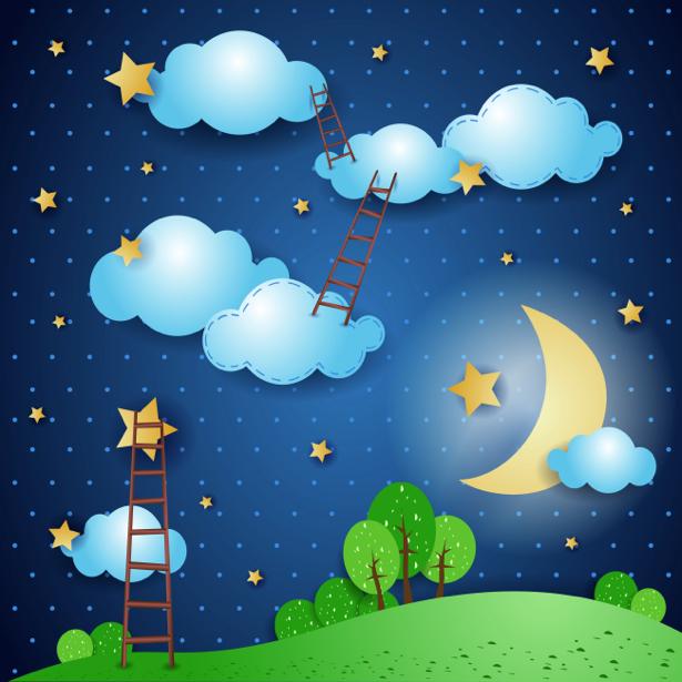 Детские фотообои сказочная ночь (children-0000212)