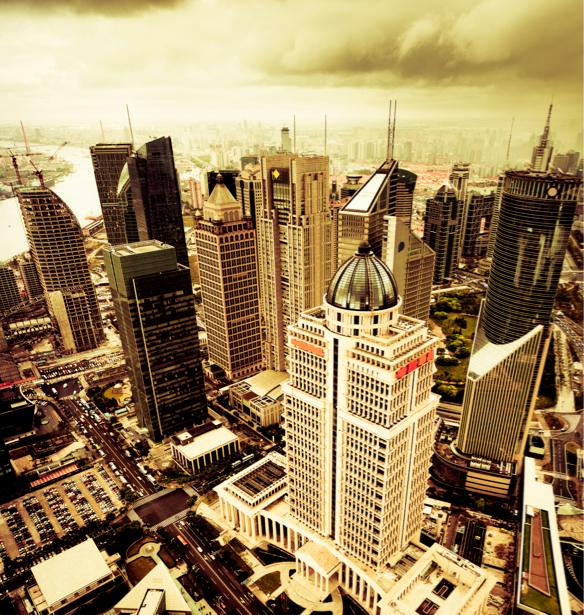Фотообои небоскребы, огни, архитектура (city-0000173)