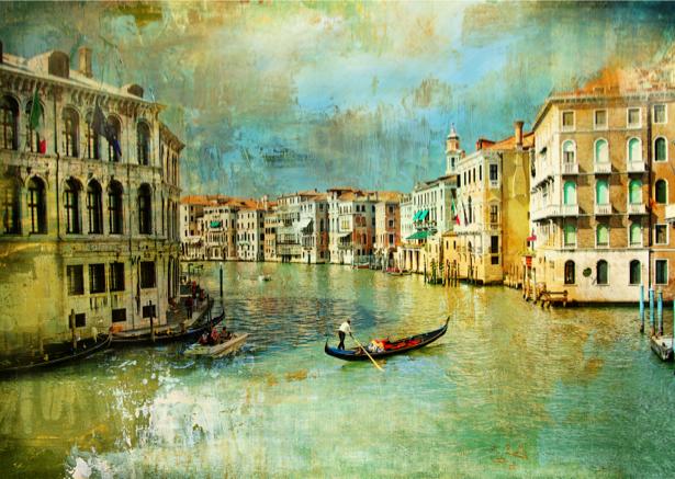 Фотообои в зал канал в Венеции (city-0000373)