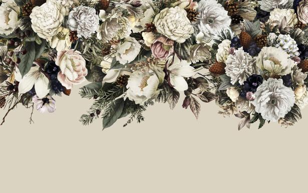 Фотообои Ретро цветы (flowers-811)