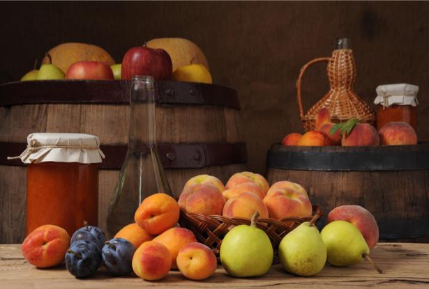 Фотообои в кухню натюрморт с фруктами (food-0000054)