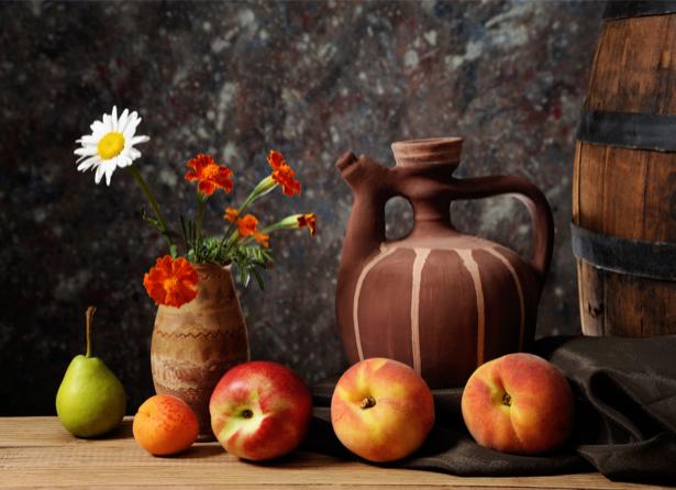 Фотообои в кухню натюрморт с кувшином (food-0000056)