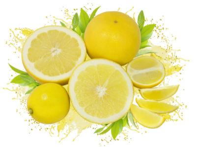 Фотообои кухня лимоны в брызгах сока (food-0000195)