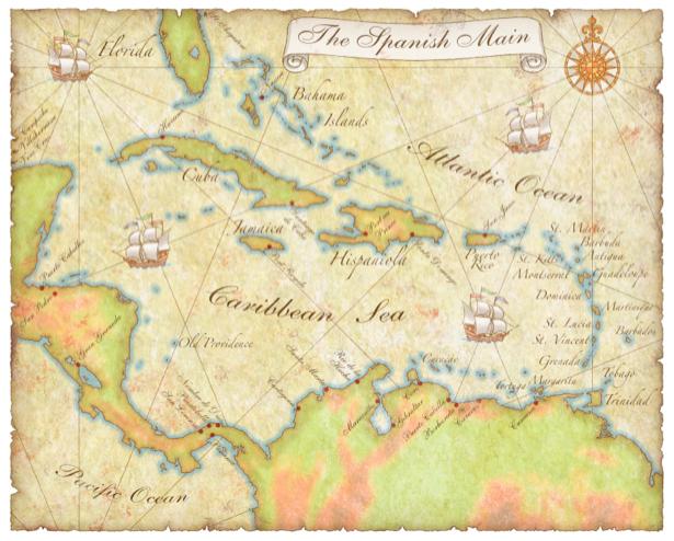 Фотообои карта старого мира (map-0000180)