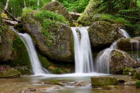 Фотообои с природой водопад в лесу (nature-00022)