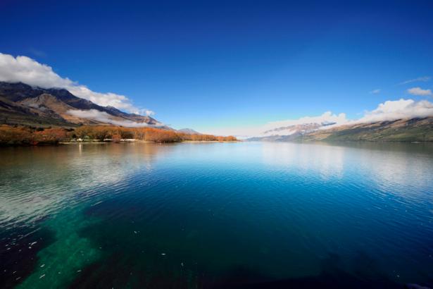 Фотообои горы море фото отражение (nature-00426)