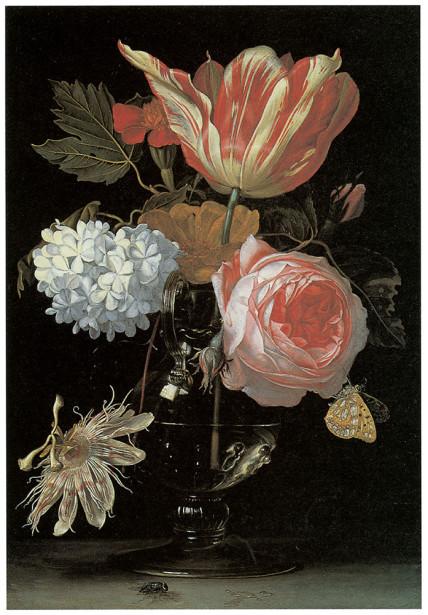 голландские цветы натюрморт (pf-48)
