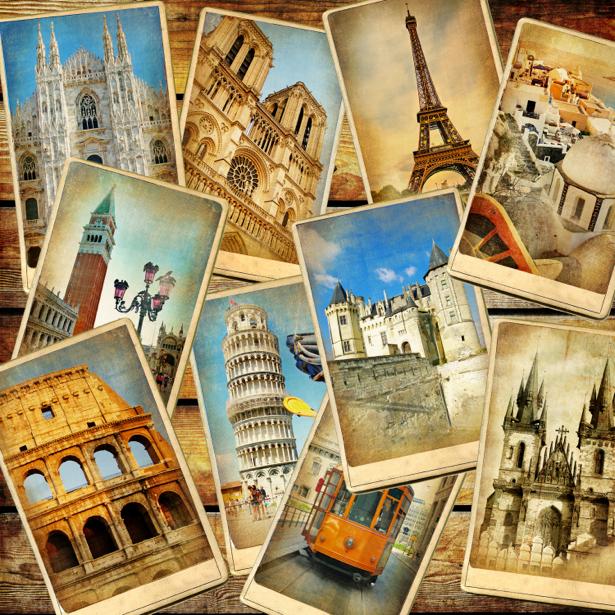 Фотообои фото городов Европы (retro-vintage-0000070)