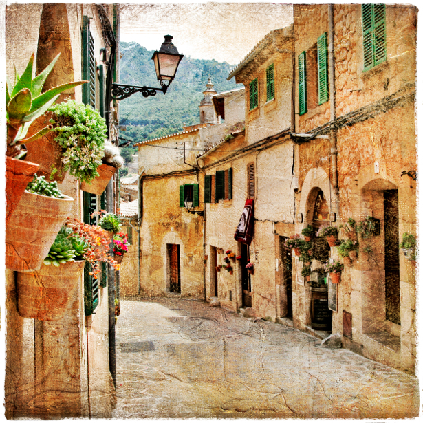 Фотообои в зал Венеция Италия (retro-vintage-0000125)