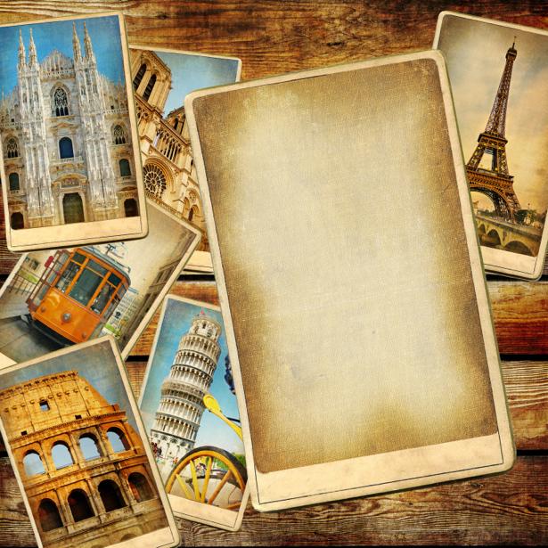 Фотообои открытки винтажные (retro-vintage-0000159)