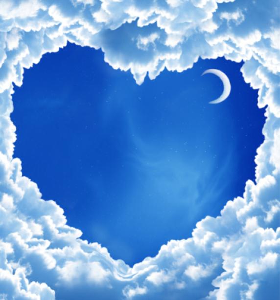 Фотообои облака в виде сердца (sky-0000075)