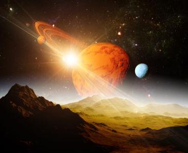 Фотообои космическая фантазия (space-0000049)