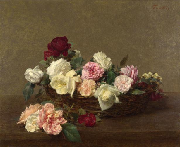 Фотообои корзина роз (still-life-0051)