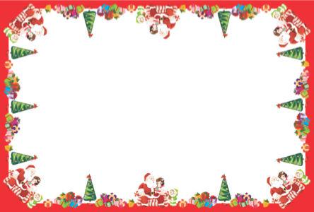 Скатерть Новогодняя Санта с подарками (0006)