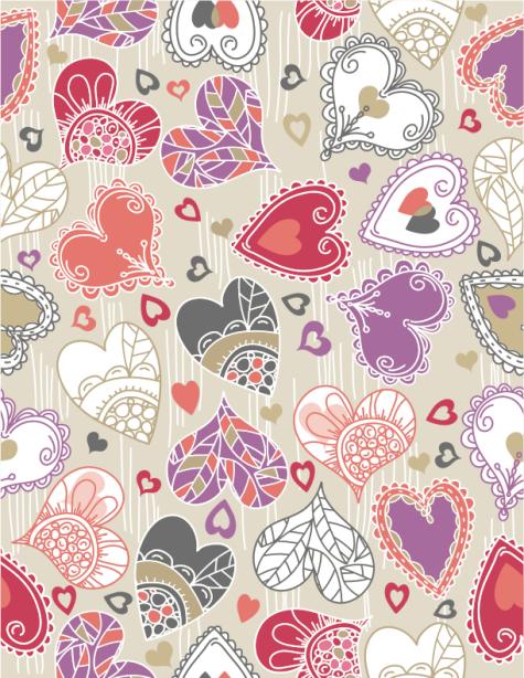 Фотошторы сердечки цветные (bedroom-curtain-00002)