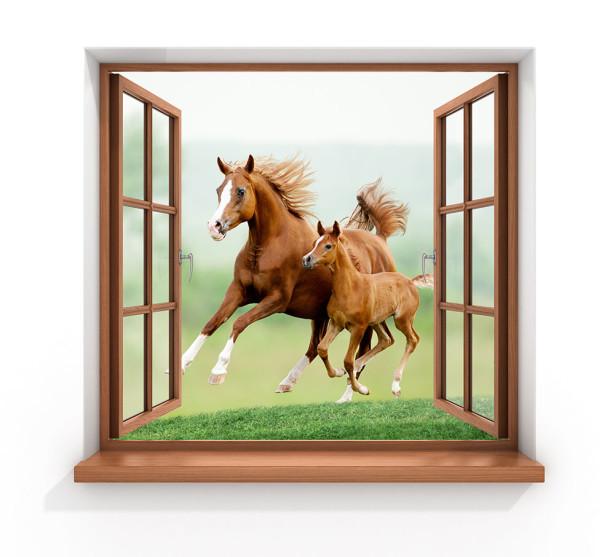 Фотообои Лошади за окном (child-475)