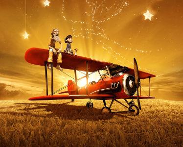 Фотообои Летчик и девочка из мульта