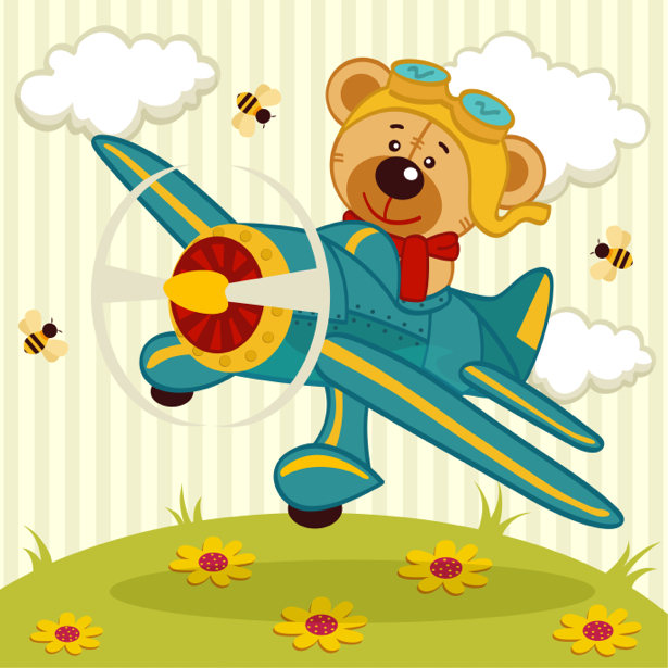 Мишка Тедди Детские фотообои (children-0000294)