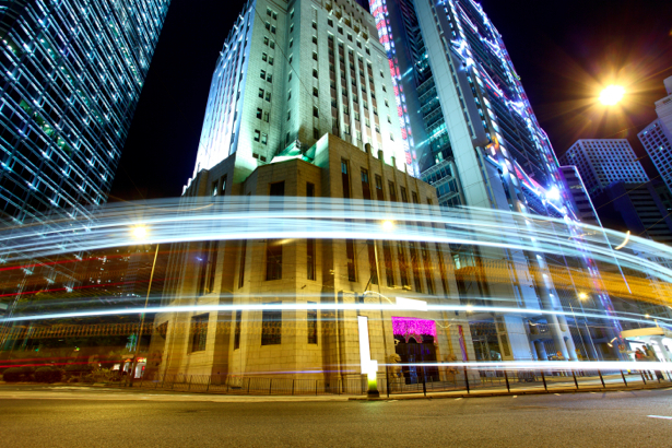 Фотообои Ночной мегаполис, мост, дорога (city-0000284)