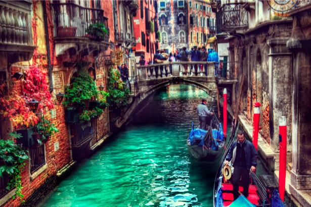 Фотообои канал Венеции Италия (city-0000479)